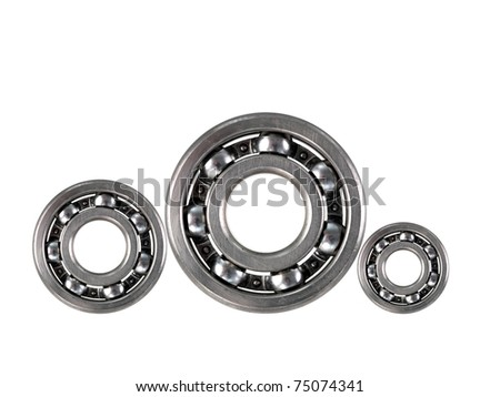 A bearing isolated against a white background