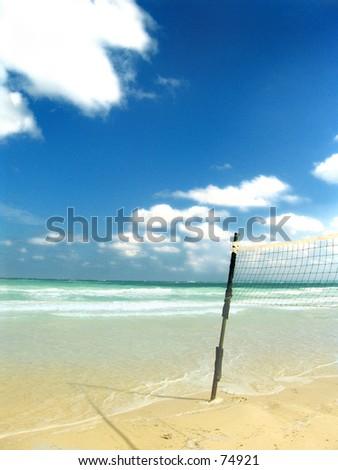 A beautiful beach on Coya Coco, Cuba - stock photo