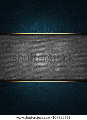 A beautiful blue background with a metal nameplate for the inscription.