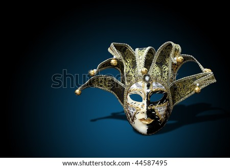 A Beautiful carnival mask composition from venice Italy
