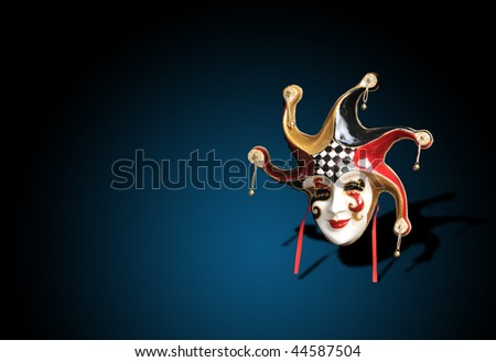 A Beautiful carnival mask composition from venice Italy - stock photo