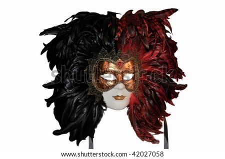 A beautiful carnival mask from Venice, Italy - stock photo