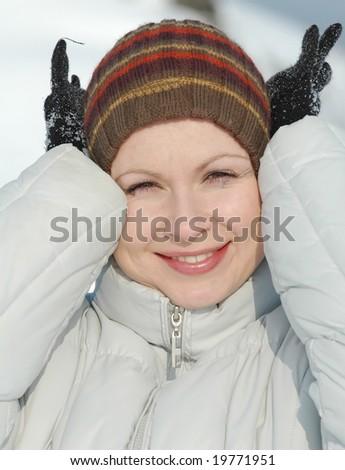 A beautiful caucasian girl - stock photo