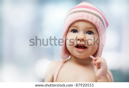 a beautiful child enjoying life - stock photo