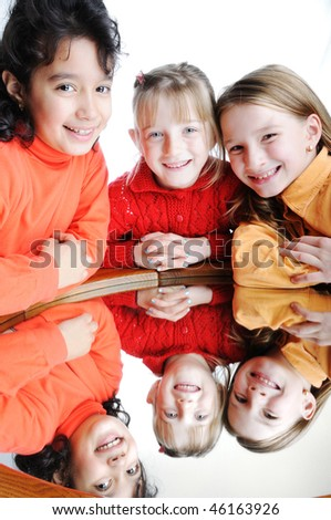 a beautiful children - stock photo