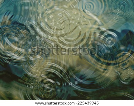 A beautiful close up of ripples on a pond. - stock photo