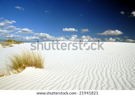 A beautiful day at White Sands National Monument. - stock photo