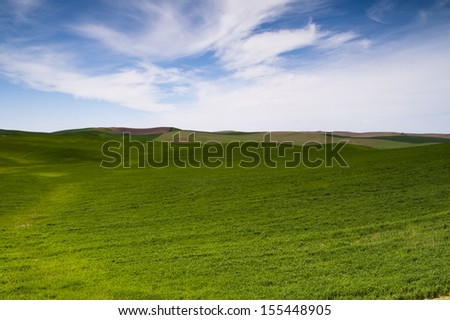 A beautiful day in the Palouse countryside the great northwest United States