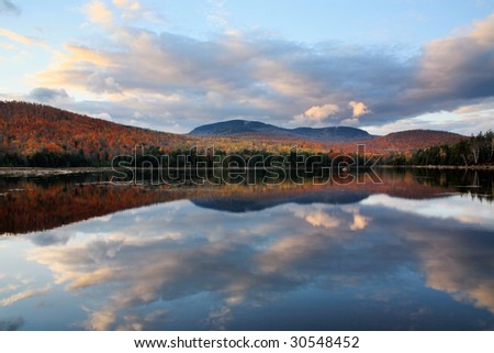 A Beautiful Evening At The End Of A Stormy Day On Loon Lake, Adirondack Mountains, New York