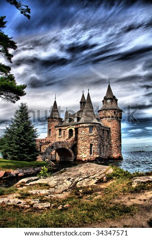 A beautiful fairytale like scene made with HDR technology - stock photo