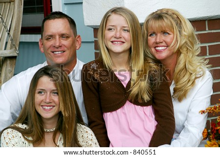 A beautiful family spending time together. - stock photo