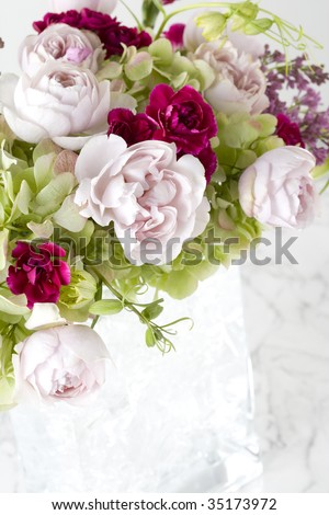 A beautiful flower arrangement in a vase
