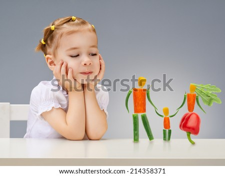 A beautiful girl with fresh fruit - stock photo