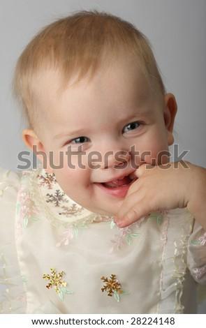 A beautiful happy baby - stock photo