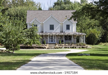 A beautiful home in the country - Ohio - stock photo