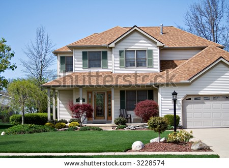 A beautiful home in the suburbs of Ohio - stock photo