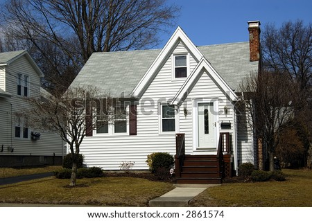 A beautiful house typical of an old house in US - stock photo