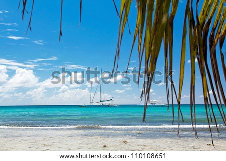 A beautiful image of caribbean sea - Nature - stock photo