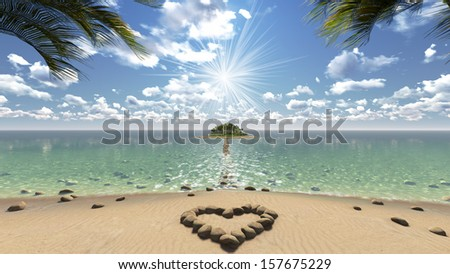 A beautiful island with sea view - stock photo