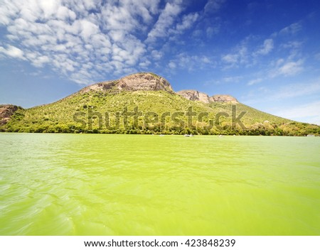 A beautiful Lake at South Africa - stock photo