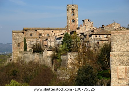 A beautiful medieval village in the central Tuscany