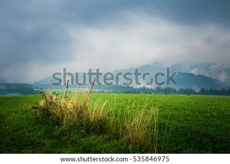 A beautiful misty Slovakian mountain scenery in Low Tatras