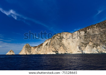 a beautiful mountain slope in Zakynthos island, Greece