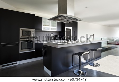 a beautiful new apartment - stock photo