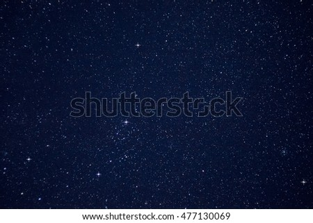 A beautiful night sky with bright stars. Deep space.
