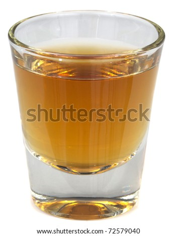 A beautiful picture of a shot of Brandy, Whisey or Scotch! - stock photo
