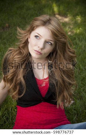 redhead-woman-posing