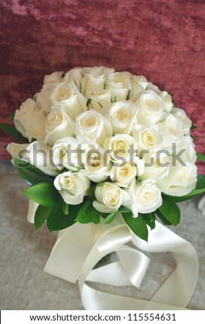 a beautiful rose bouquet - stock photo
