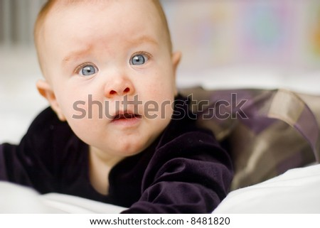A beautiful smiling baby - stock photo
