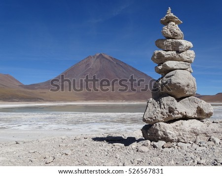 A beautiful Stack of stones in Bolivia.