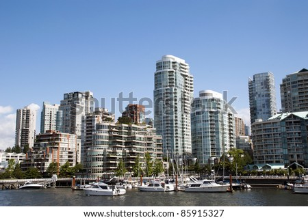 A beautiful summer day in Downtown of Vancouver Canada - stock photo