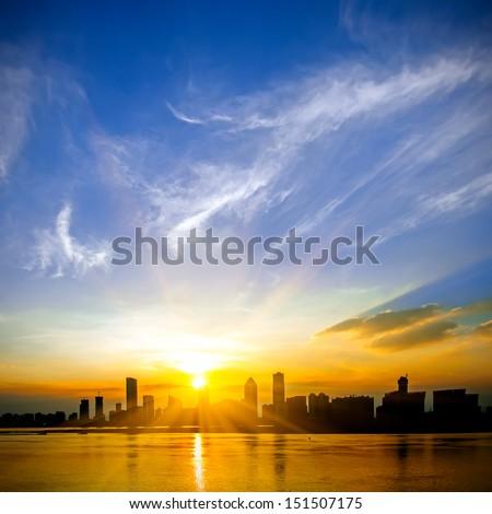 A beautiful sunrise - stock photo