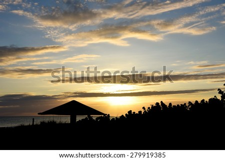 A beautiful sunset in Florida on the Gulf of Mexico 