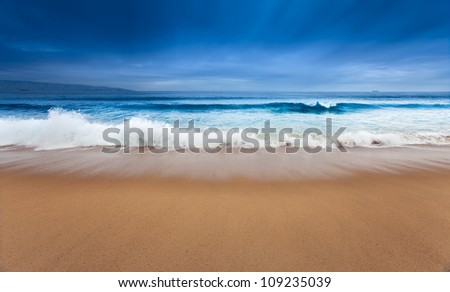 A beautiful surreal ocean scene - stock photo