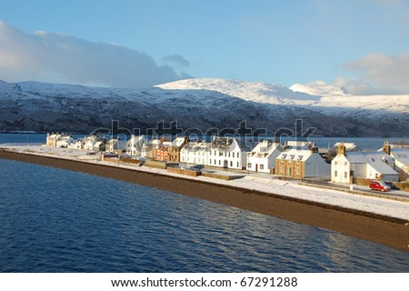 A beautiful view of houses in Ullapool