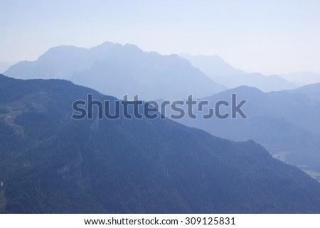 a beautiful view of the austrian Alps, Tirol, Austria - stock photo