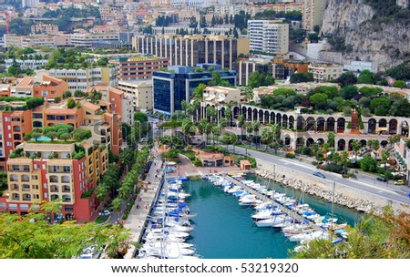 A beautiful view of the Marina of Monte Carlo. - stock photo