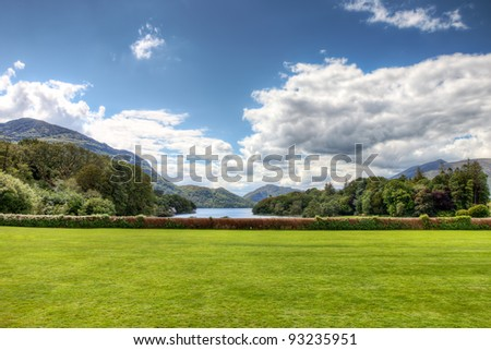 A Beautiful View of the National Park in Co Kerry Ireland. - stock photo