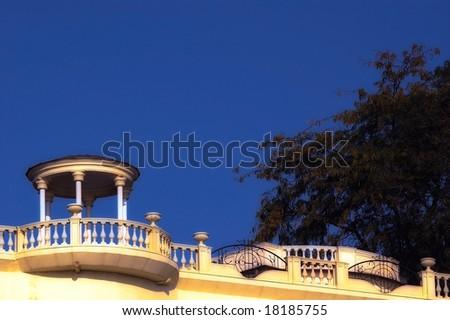 A beautiful villa - stock photo