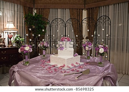 beautiful wedding cake tables beautiful wedding cake on table flowers stock photo 11233