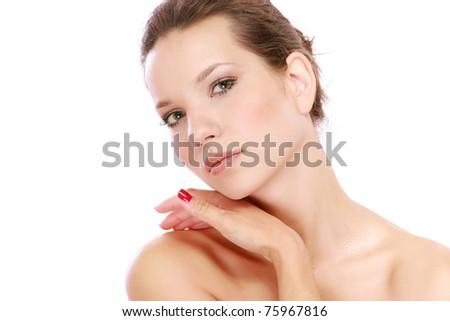 A beautiful woman - stock photo