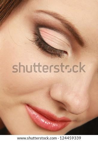 A beautiful woman , close up - stock photo