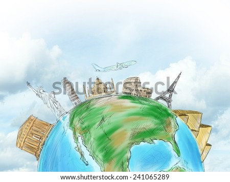 A beautiful world to see and discover - stock photo