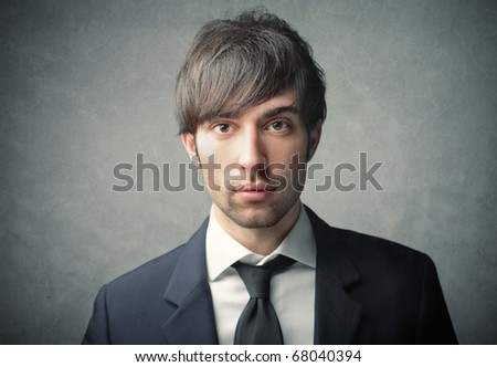 A beautiful young businessman - stock photo