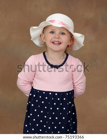 A Beautiful Young Girl Smiling - stock photo