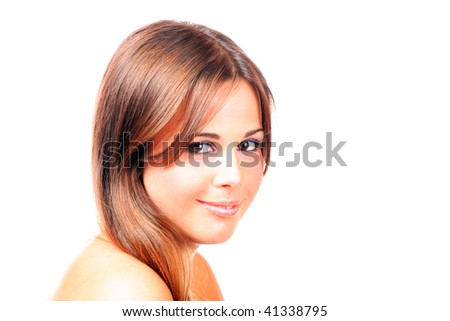 A Beautiful young Woman  on light background